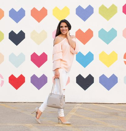 Effortless Chic Pink+Grey Outfit