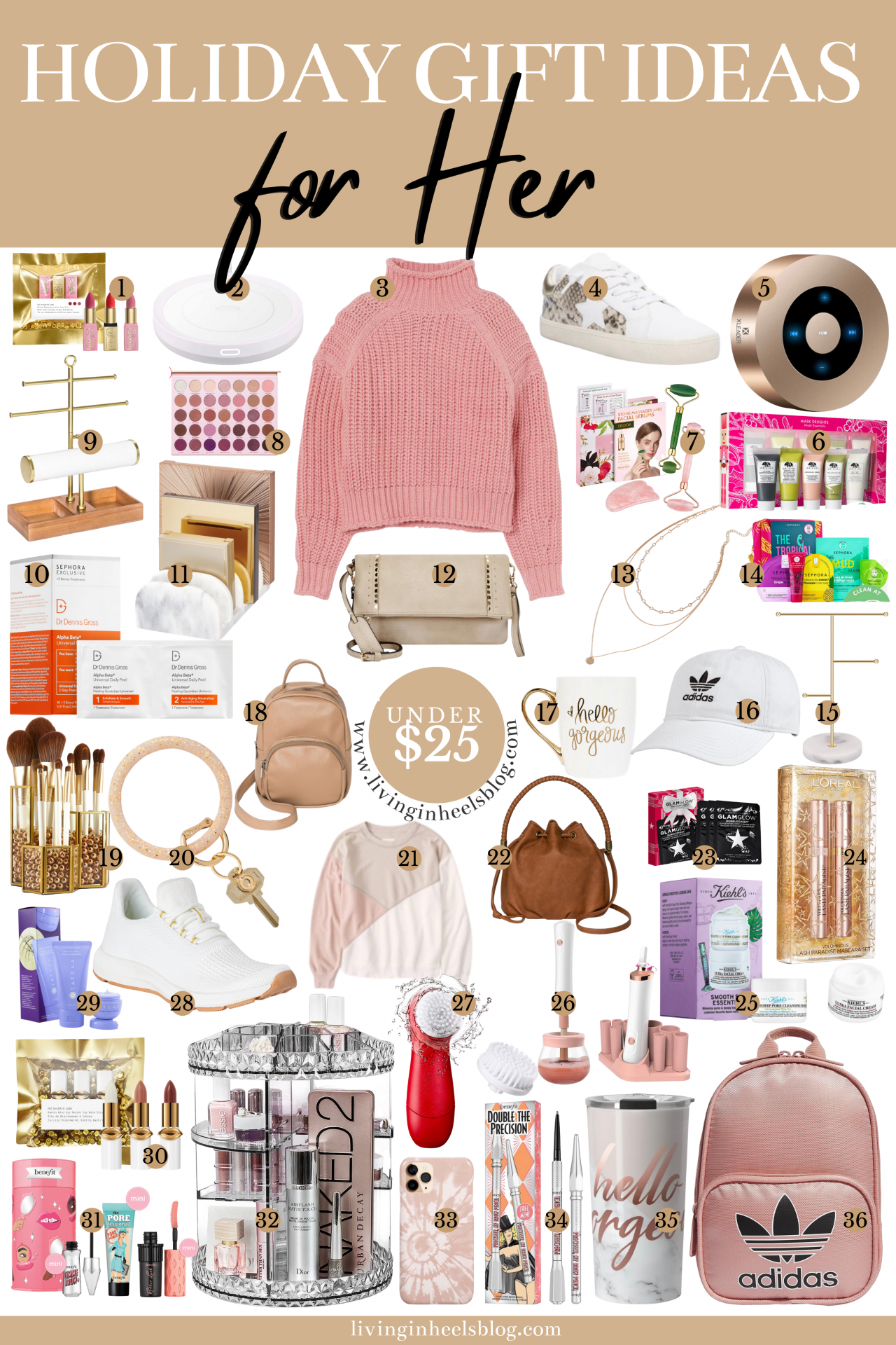 Holiday Gift Ideas for a budget under $100. Gifts for her: wife, mom, daughter, bestie! Fashion, beauty, technology and more!