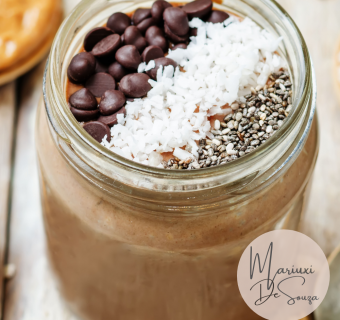 How to make Healthy and Easy Chocolate Coconut Overnight Oats