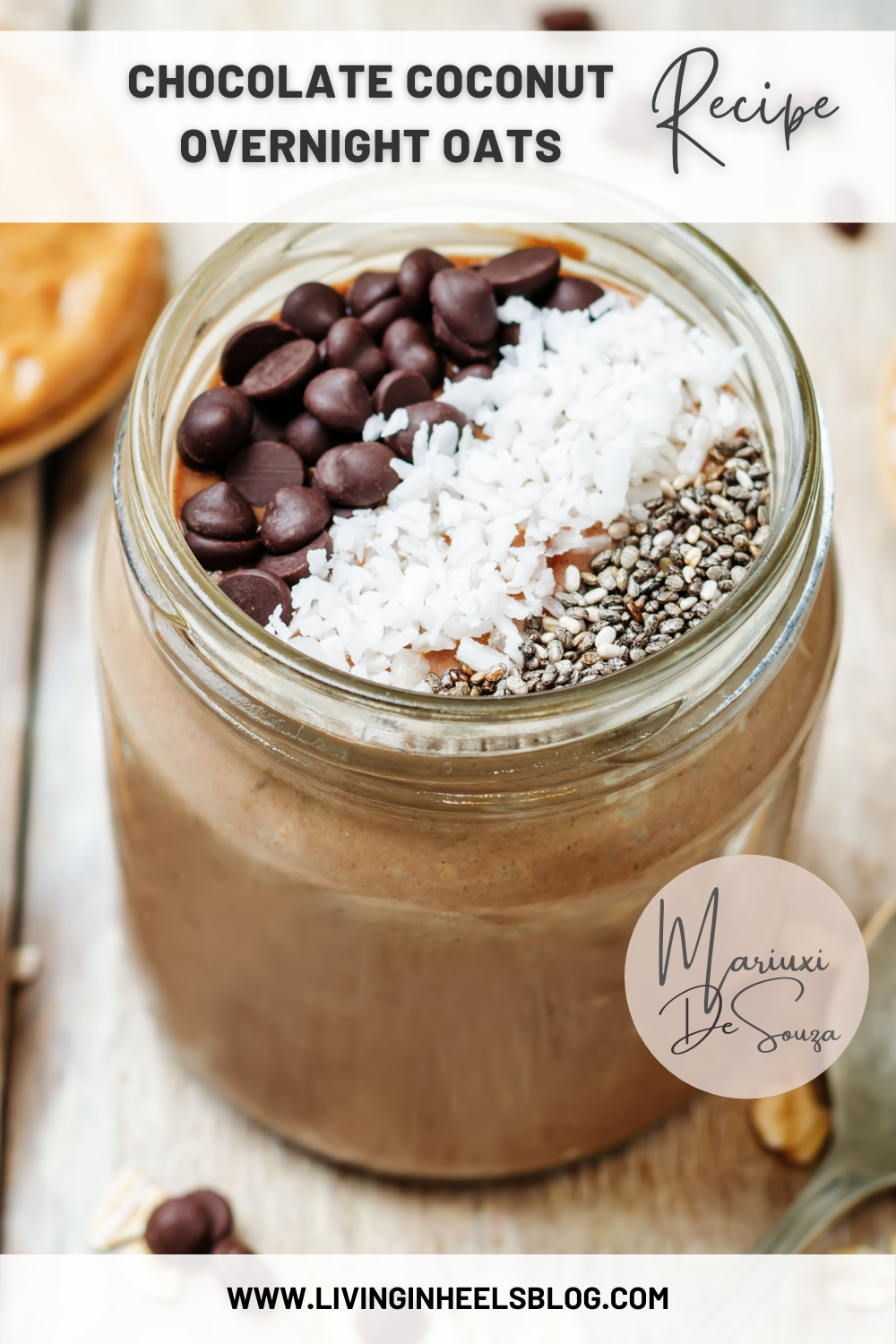 chocolate overnight oats, overnight oats, how to make overnight oats, overnight oats for weight loss, overnight oats easy, easy to make overnight oats, healthy breakfast recipes with oats