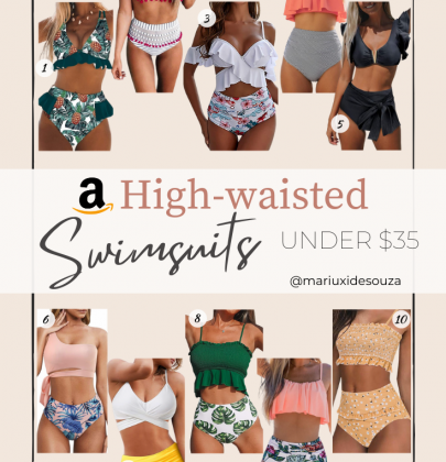 The Best 10 Cute and Affordable High waisted Amazon Swimsuits under $35 that you need this Summer