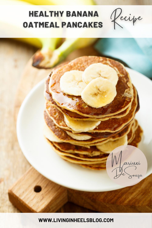 banana oat pancakes, gluten free banana oat pancakes, gluten free pancakes, sugar free pancakes, dairy free pancakes, easy to make banana pancakes, healthy kids breakfast ideas